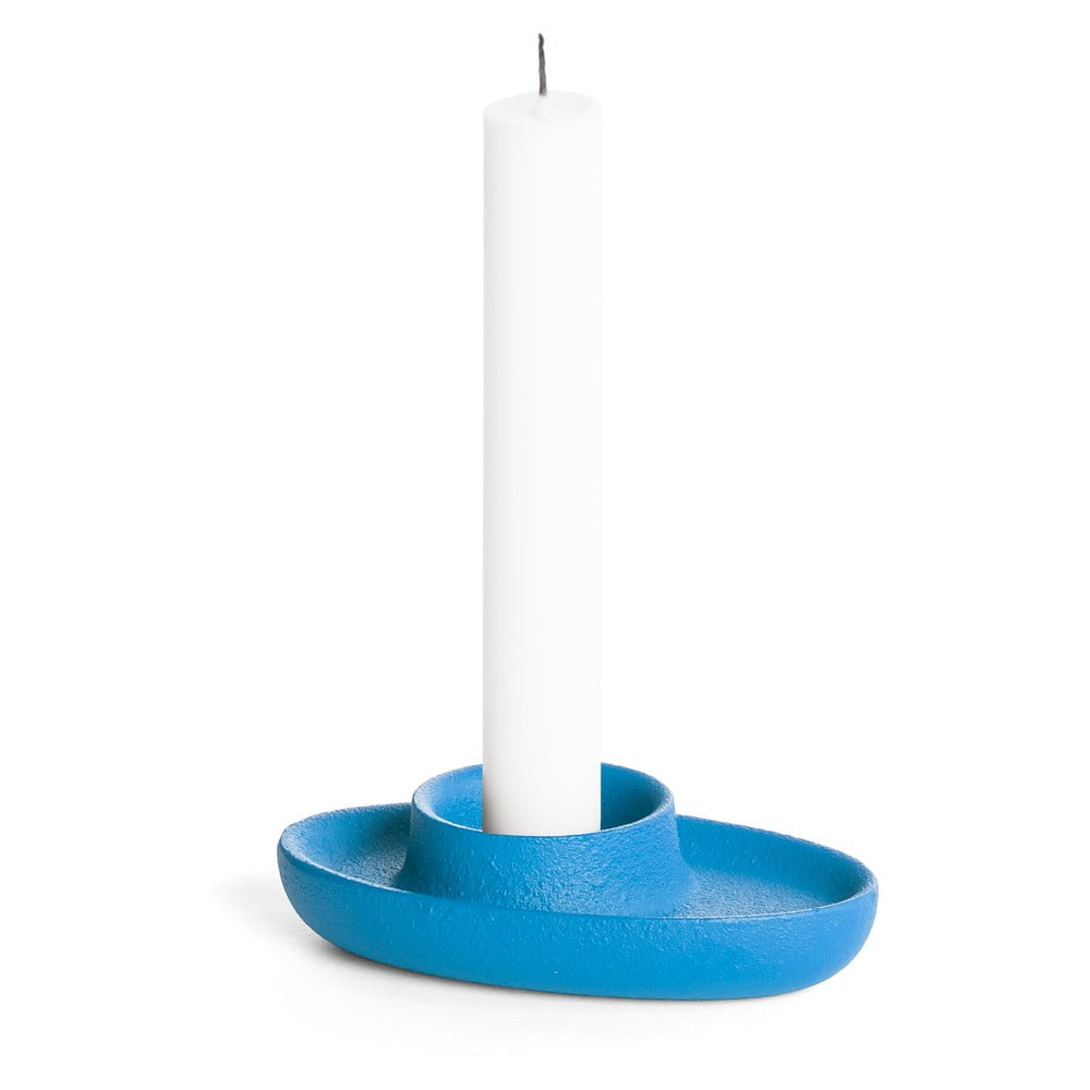 Modrý svícen EMKO Aye Aye One Candle