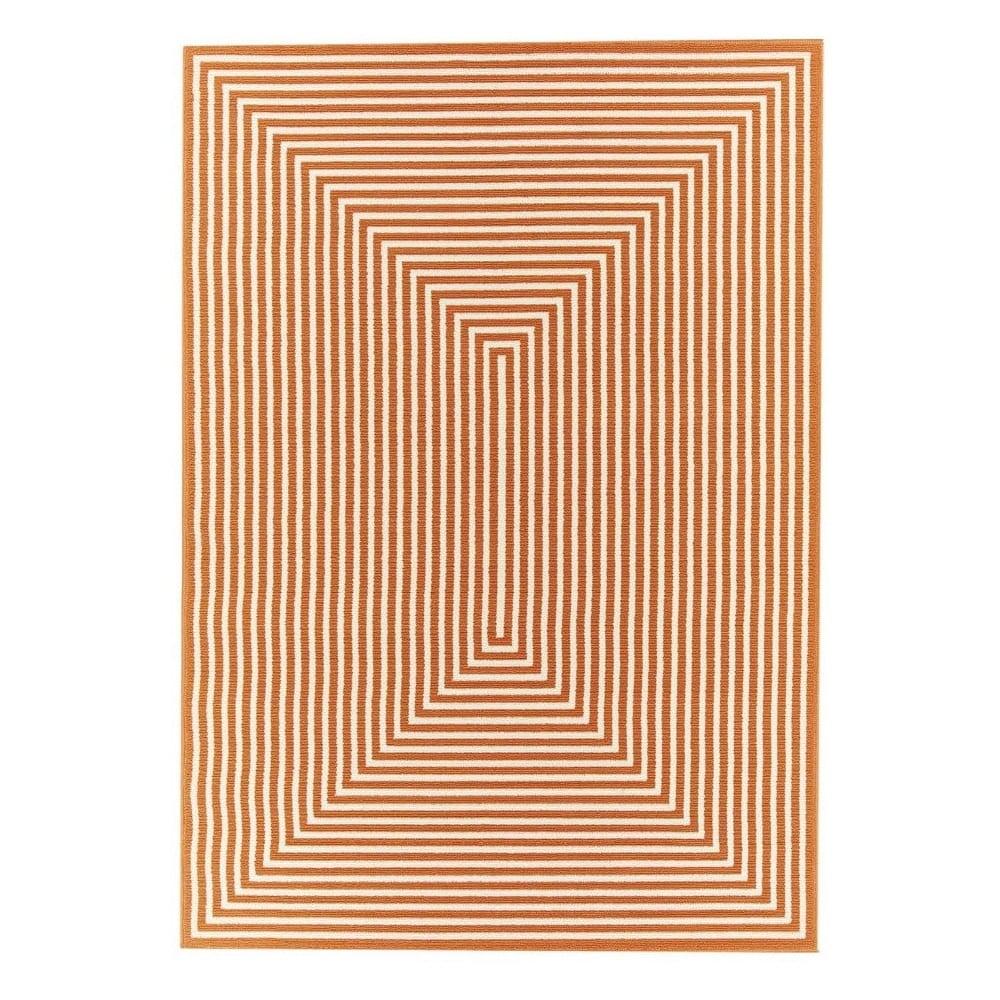 Oranžový vysoce odolný koberec Webtappeti Braid, 133 x 190 cm