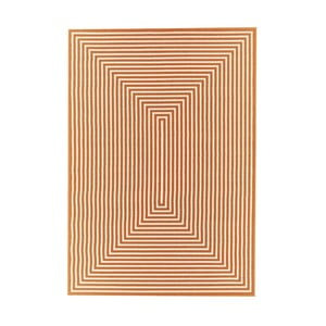 Oranžový vysoce odolný koberec Webtappeti Braid,133x190cm