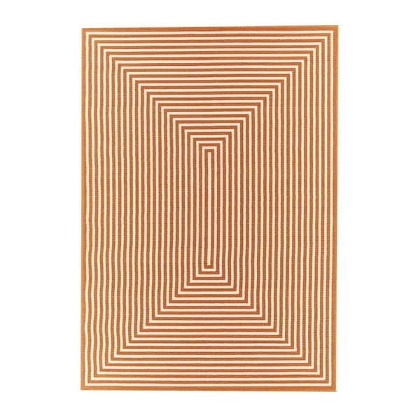 Oranžový venkovní koberec Floorita Braid, 160 x 230 cm