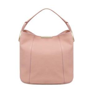Růžová kožená kabelka Laura Ashley Ryedale