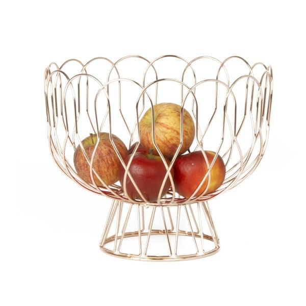 Měděná mísa na ovoce Present Time Wired Copper