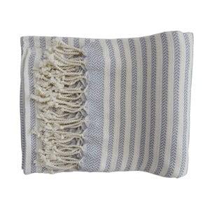 Šedá ručně tkaná osuška z prémiové bavlny Homemania Safir Hammam,100x180 cm