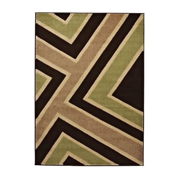 Koberec Matrix Brown Green, 120x170 cm
