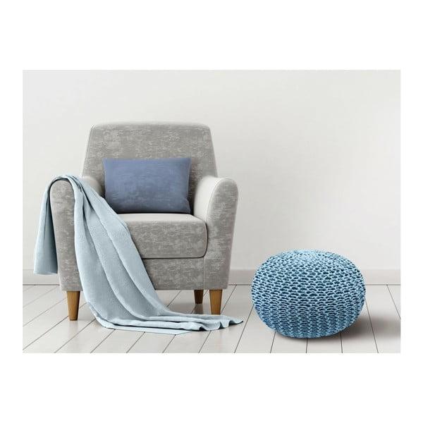 Puf Homemania Dedalo, ⌀ 45 cm, albastru