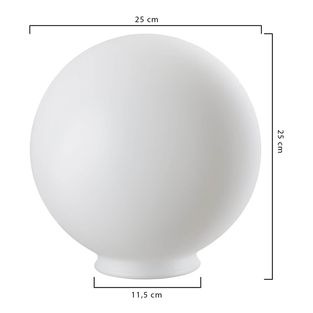 Produktové foto Bílé stínidlo na venkovní svítidlo Hedwig