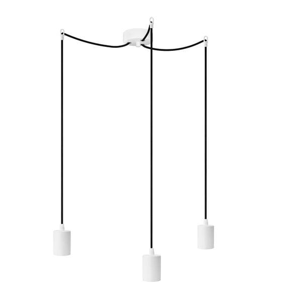 Tři závěsné kabely Cero, bílá/černá/bílá