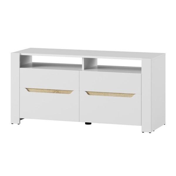 Bílý dvoudveřový TV stolek Szynaka Meble Ice