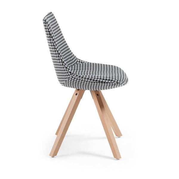 Sada 2 šedých jídelních židlí La Forma Armony