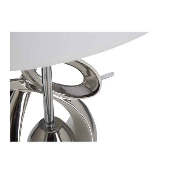 Bílostříbrná keramická stolní lampa Mauro Ferretti Violin, 31x45cm