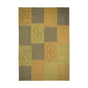 Hořčicově hnědý ručně tkaný koberec Kayoom Emotion, 120 x 170 cm