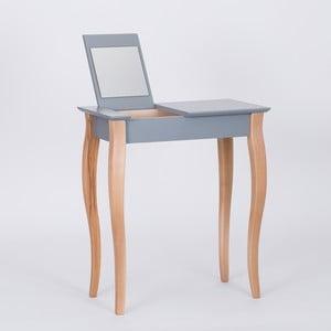 Tmavě šedý  toaletní stolek se zrcadlem Ragaba Dressing Table,délka65cm,