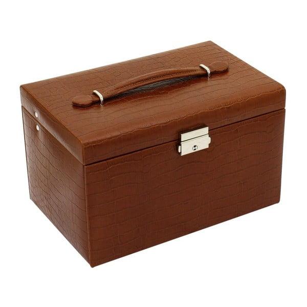 Šperkovnice Classico Brown, 24x15x16 cm