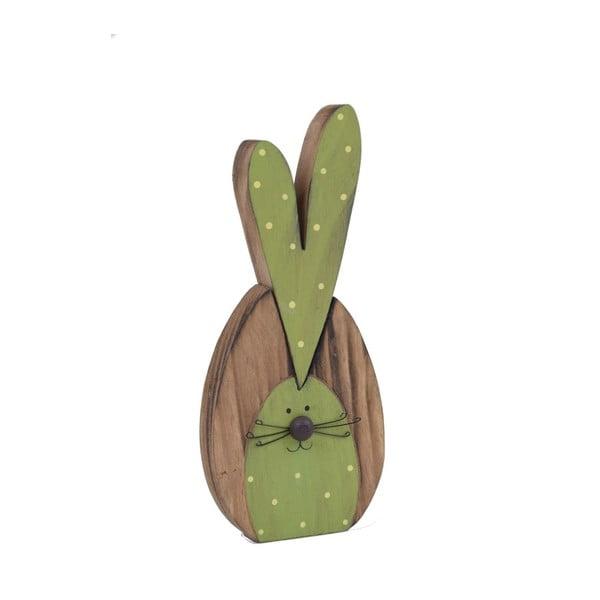 Dřevěná dekorace ve tvaru zajíčka Ego Dekor, 9 x 22 cm
