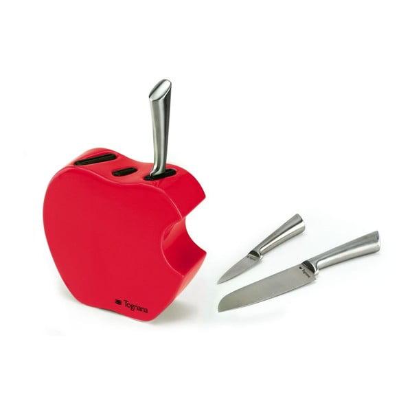 Set nožů se stojanem Red Apple, 3 ks