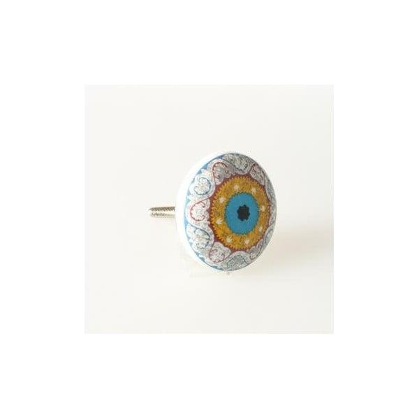 Porcelánová úchytka Blue Eye