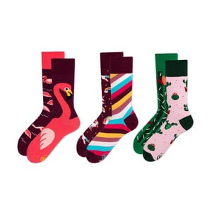 Sada 3 párů ponožek Many Mornings Pink Flamingo, vel. 43-46