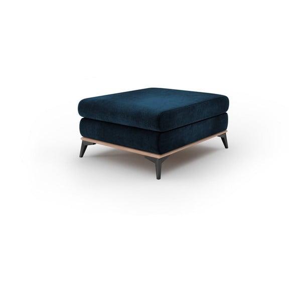 Granatowy puf z aksamitnym obiciem Windsor & Co Sofas Astre