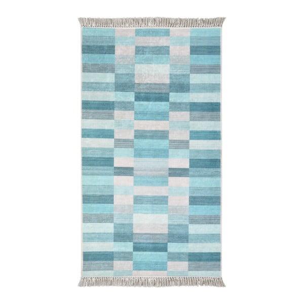Covor Vitaus Hali Kucuk Kutu Mavi, 80 x 150 cm