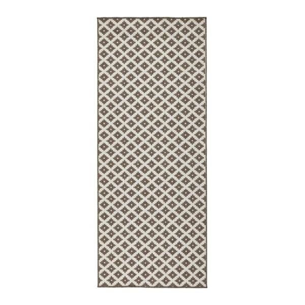 Covor reversibil adecvat interior/exterior Bougari Nizza, 80 x 250 cm, maro-crem
