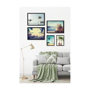 Sada 5 nástěnných obrazů Tablo Center Florida