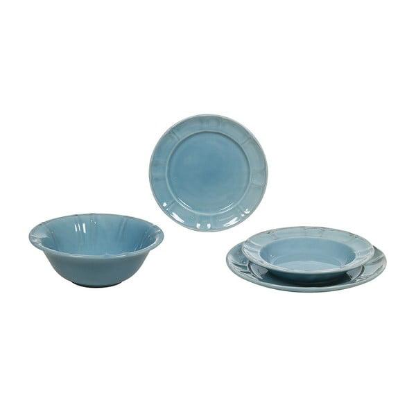 Set veselă din ceramică Santiago Pons Ribbing, 19 piese, albastru