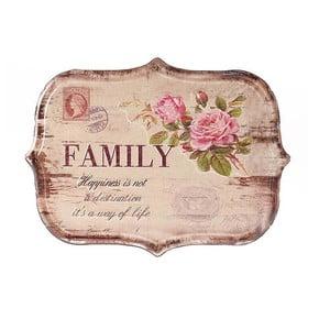 Nástěnná cedule Family, 34x25 cm
