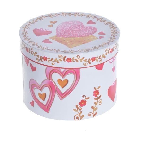 Porcelánové šálky s podšálky Srdce, 2 ks