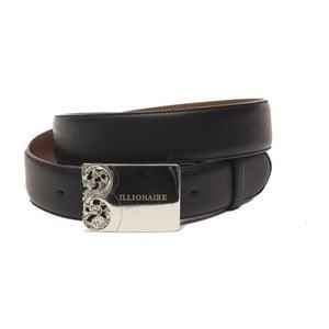 Černý pánský kožený pásek Billionaire Johny, délka 110 - 125 cm