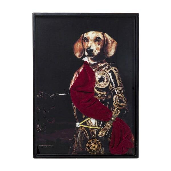 Obraz v rámu Kare Design Sir Dog, 80 x 60 cm