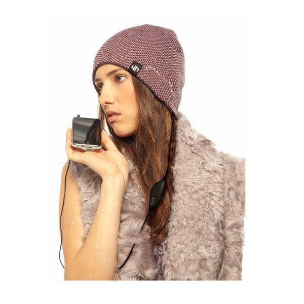 Hi-Head Zimní čepice se sluchátky, fialová