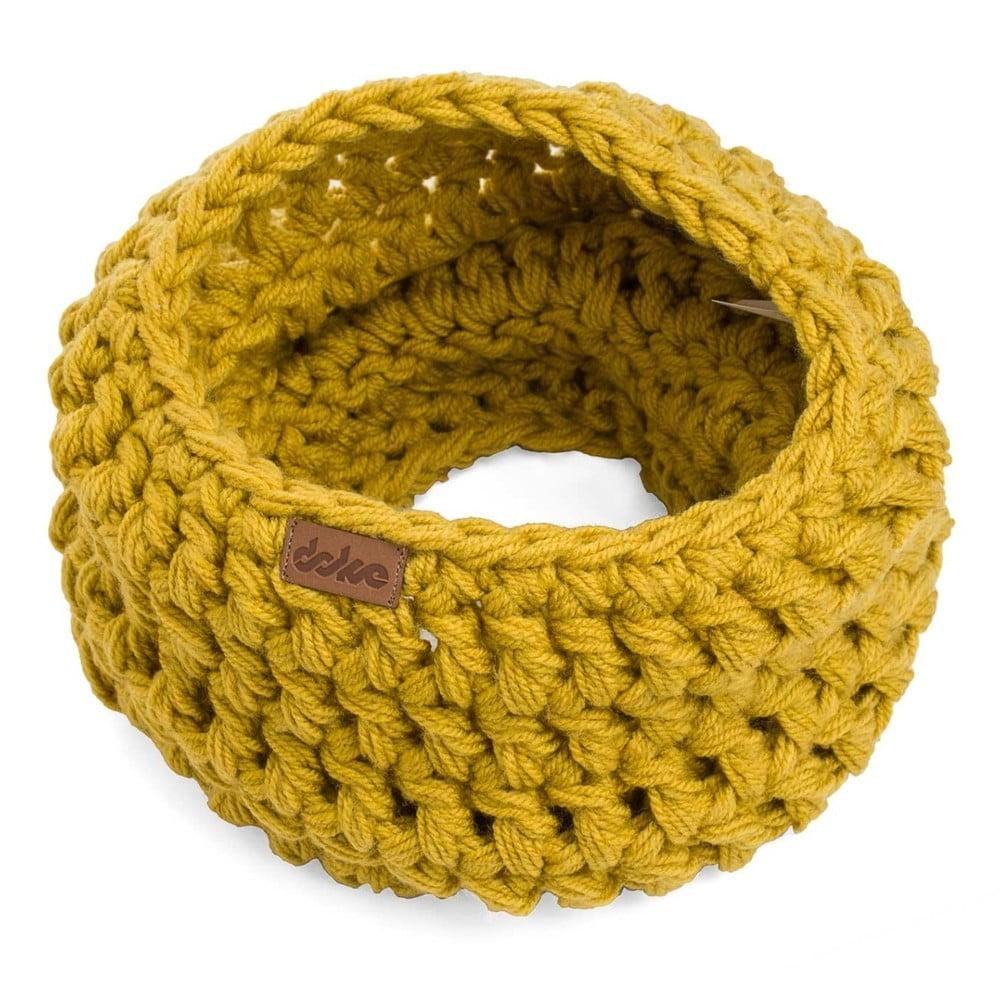 Hořčicově žlutý ručně háčkovaný kruhový nákrčník DOKE Sunny 9ff811546d