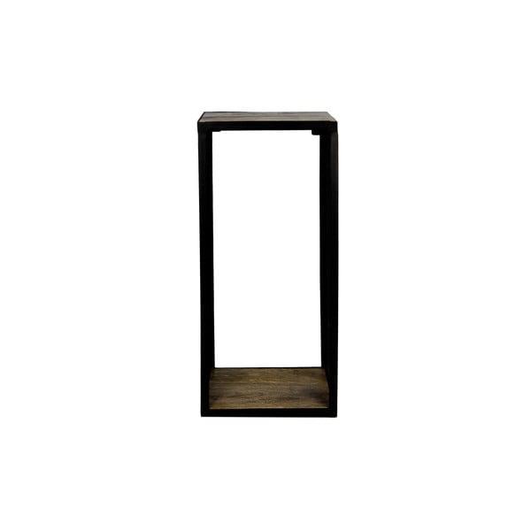 Nástěnná police s detailem z mangového dřeva HSM collection Brixton, 98 x 64 cm