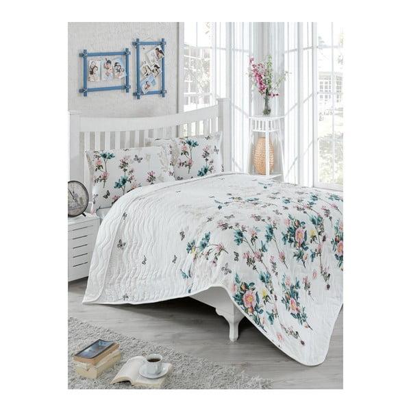 Symbiosis könnyű kétszemélyes steppelt ágytakaró párnahuzattal, 200 x 220 cm