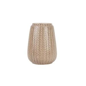 Velká hnědá váza Present Time Knitted