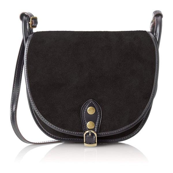 Černá kožená kabelka Chicca Borse Mutro