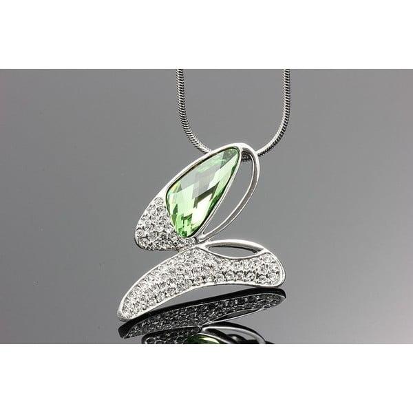 Náhrdelník Swarovski Elements Butterfly Green