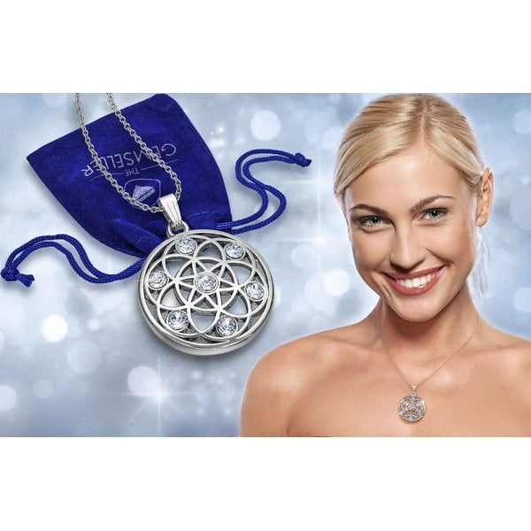 Colier cu cristale Swarovski® Gemseller Karma Silver