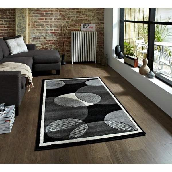 Šedý koberec Think Rugs Art Twist Grey, 80 x 150 cm