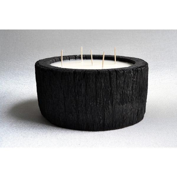 Palmová svíčka Legno Palm s vůní vanilky a pačuli, 140 hodin hoření