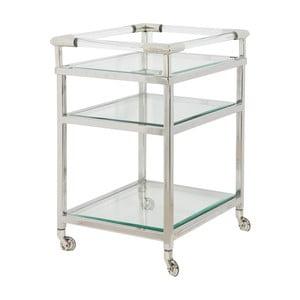 Pojízdný stolek ve stříbrné barvě Artelore Pau