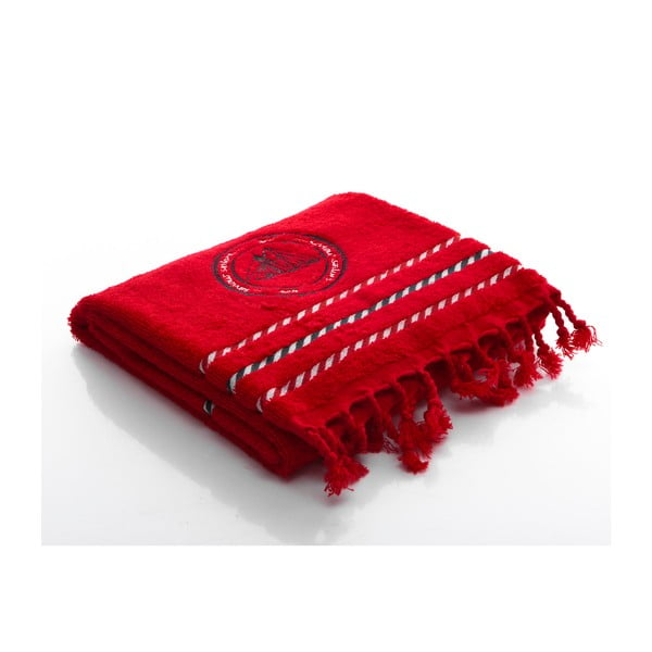 Osuška Sail Red, 90x50 cm