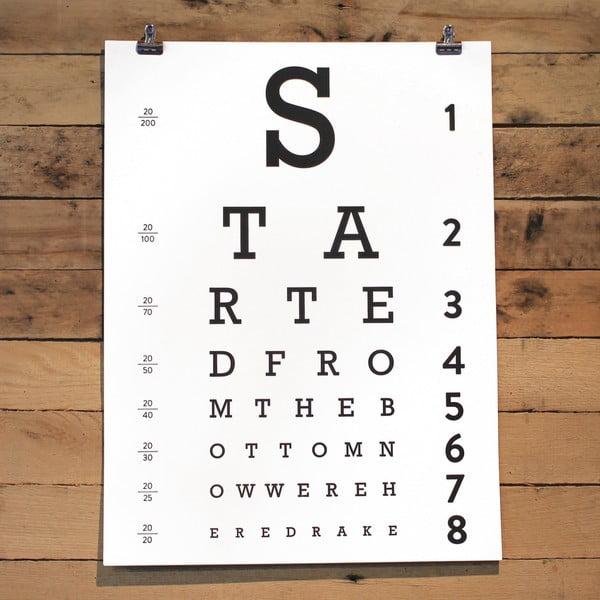 Plakát Eye Chart, 61x46 cm