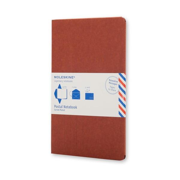 Cihlový zápisník v obálkové vazbě Moleskine Postal L