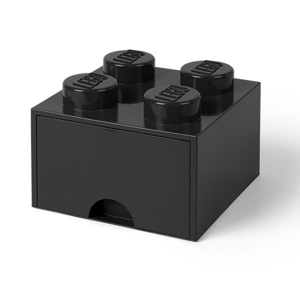 Fekete fiókos tárolódoboz - LEGO®