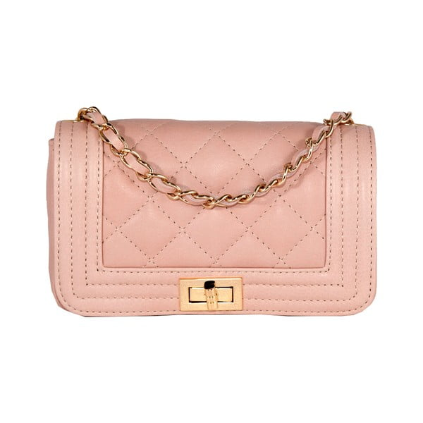 Růžová kožená kabelka Andrea Cardone 2016