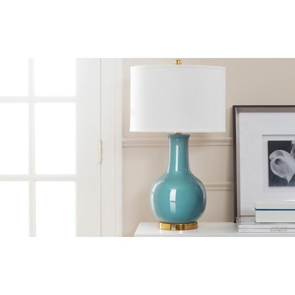 Modrá keramická stolní lampa Safavieh Paris