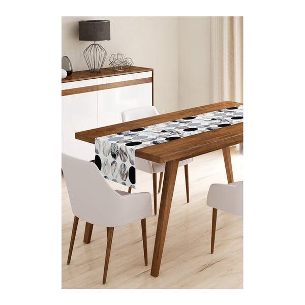 Běhoun na stůl z mikrovlákna Minimalist Cushion Covers Pearl, 45x145cm