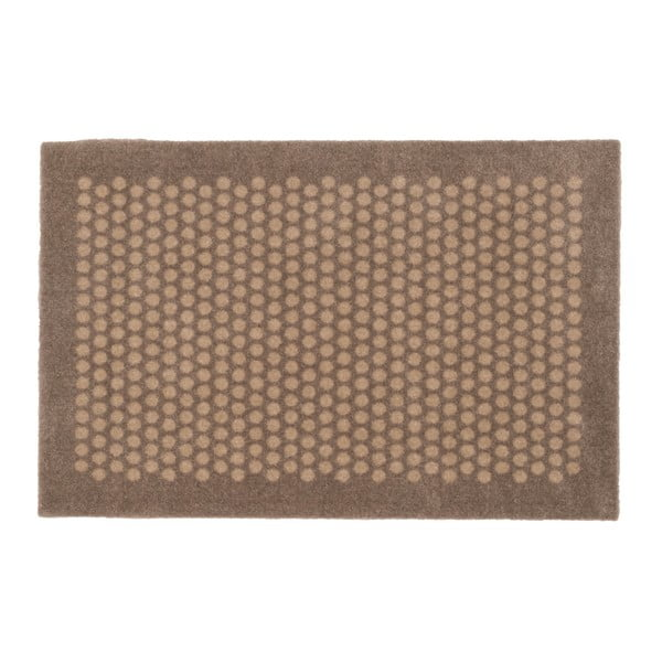 Hnědobéžová rohožka tica copenhagen Dot, 60x90cm