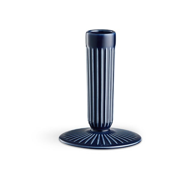 Hammershoi sötétkék agyagkerámia gyertyatartó, magasság 12 cm - Kähler Design